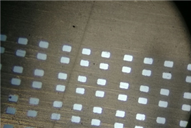 A 100-fold magnification effect of 0.045*0.065MM nano-steel mesh in a photoelectric company