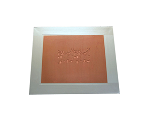 AI Printed Red Rubber Steel Mesh